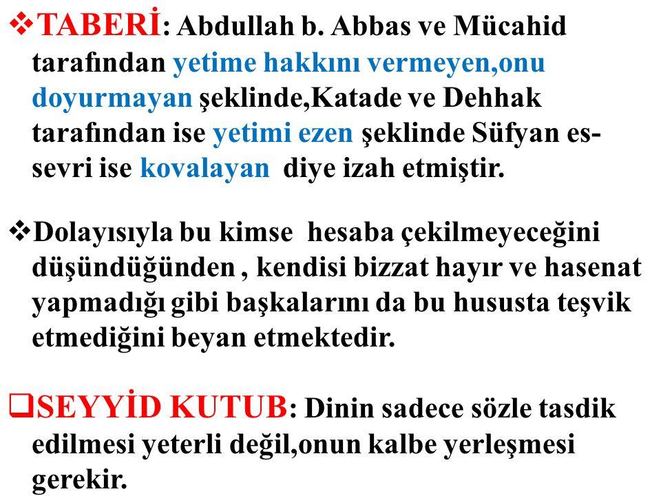  TABERİ : Abdullah b.