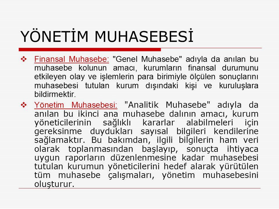  Finansal Muhasebe: