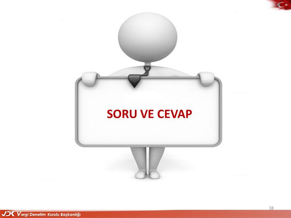 V ergi D enetim Kurulu Başkanlığı SORU VE CEVAP 38