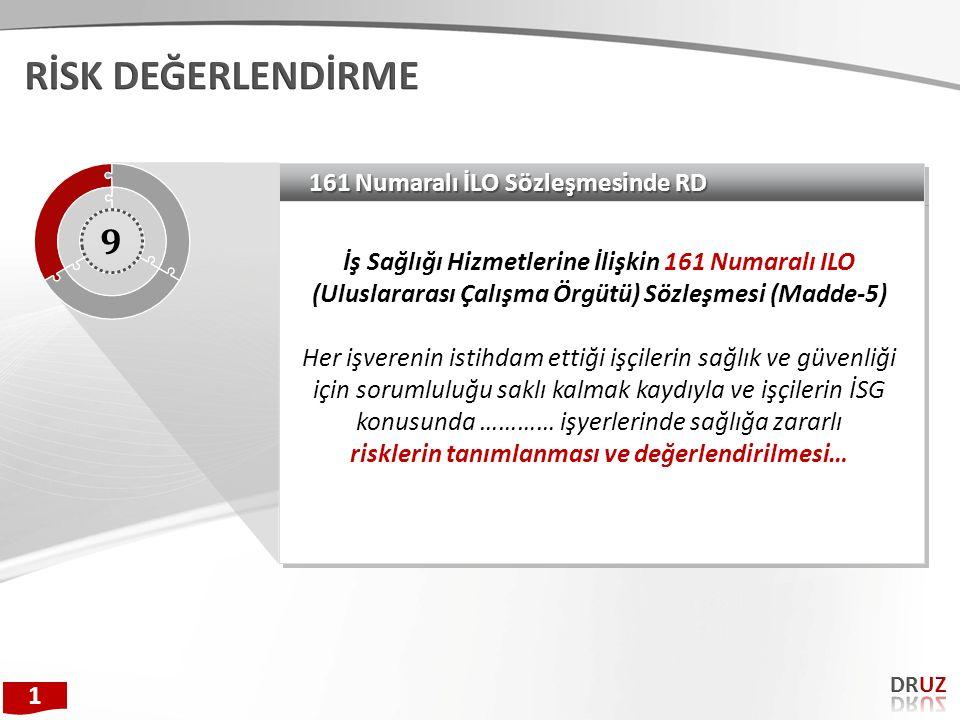 161 Numaralı İLO Sözleşmesinde RD İş Sağlığı Hizmetlerine İlişkin 161 Numaralı ILO (Uluslararası Çalışma Örgütü) Sözleşmesi (Madde-5) Her işverenin is
