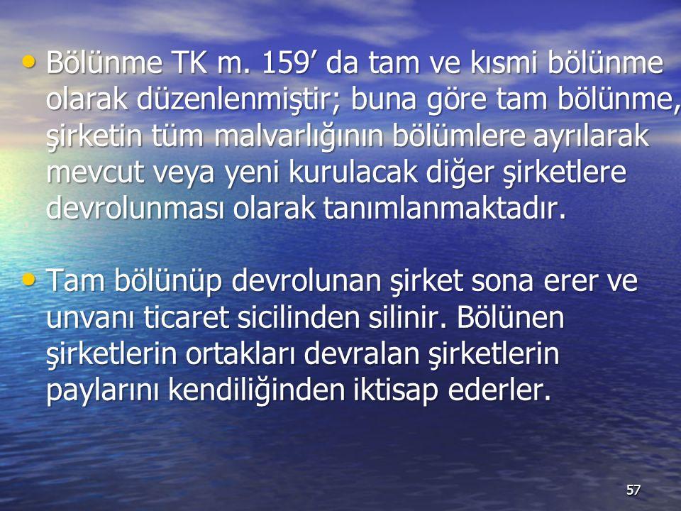 Bölünme TK m.
