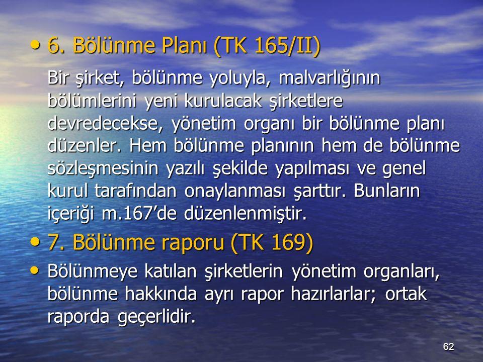 6. Bölünme Planı (TK 165/II) 6.