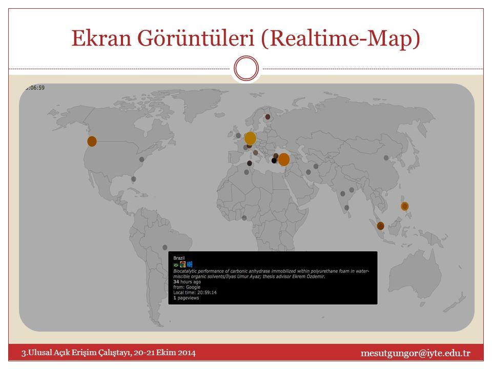 Ekran Görüntüleri (Realtime-Map) mesutgungor@iyte.edu.tr 3.Ulusal Açık Erişim Çalıştayı, 20-21 Ekim 2014