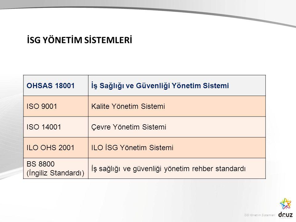 İSG Yönetim Sistemleri Yönetim Sistemi Nedir.