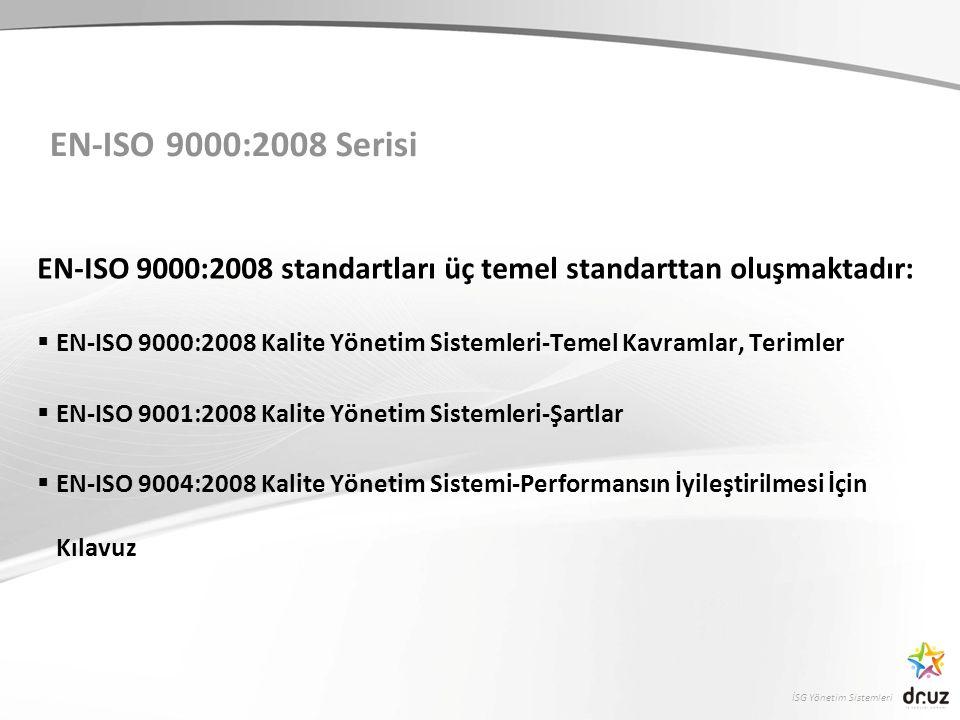İSG Yönetim Sistemleri Kalitenin Tanımı  Kalite, bir ürün veya hizmetin belirlenen veya olabilecek ihtiyaçları karşılama kabiliyetine dayanan özelliklerin toplamıdır.