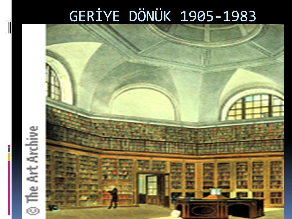 GERİYE DÖNÜK 1905-1983