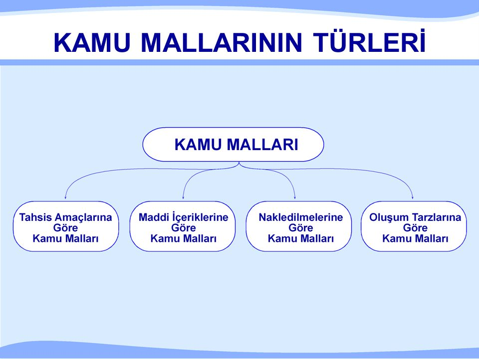 KAMU MALLARININ TÜRLERİ