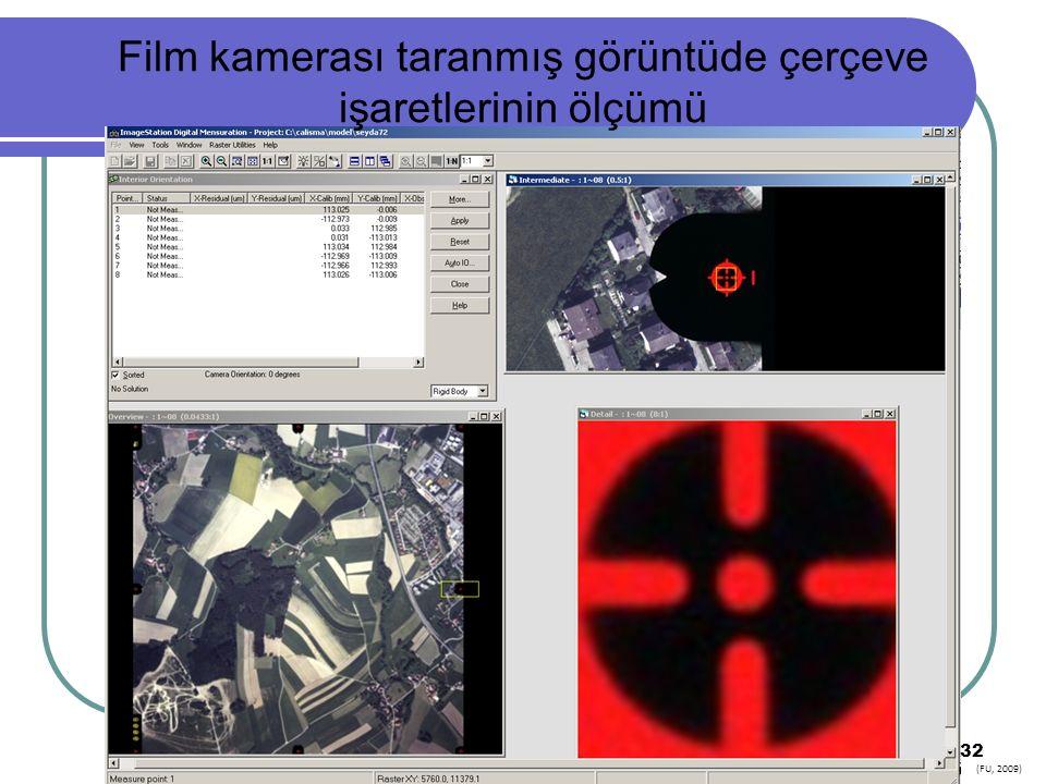 32 Film kamerası taranmış görüntüde çerçeve işaretlerinin ölçümü (FU, 2009)