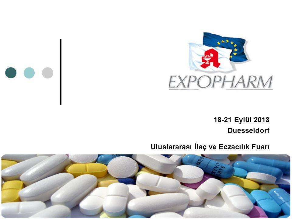 18-21 Eylül 2013 Duesseldorf Uluslararası İlaç ve Eczacılık Fuarı