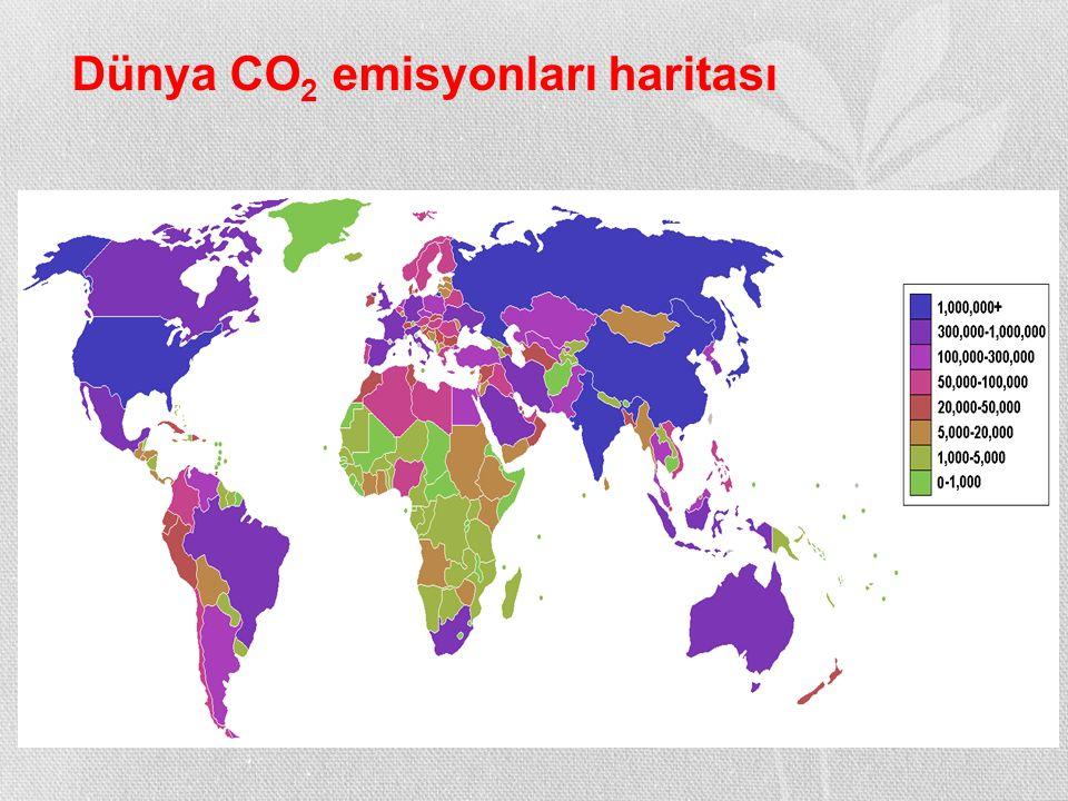 Dünya CO 2 emisyonları haritası