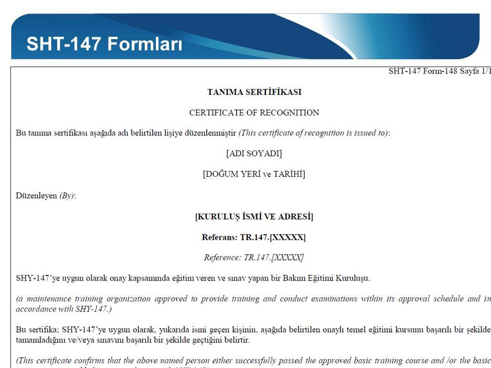 SHT-147 Formları Form-148