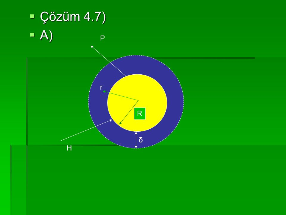  Çözüm 4.7)  A) R H P δ r