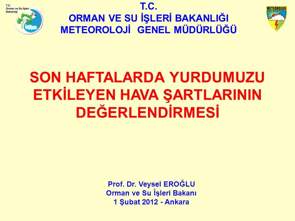 T.C. ORMAN VE SU İŞLERİ BAKANLIĞI METEOROLOJİ GENEL MÜDÜRLÜĞÜ Prof.