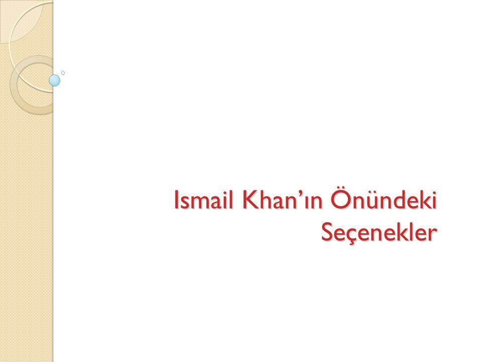 Ismail Khan'ın Önündeki Seçenekler