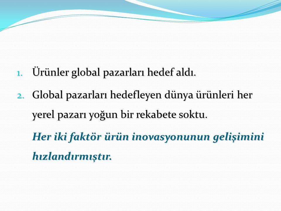 1. Ürünler global pazarları hedef aldı. 2.