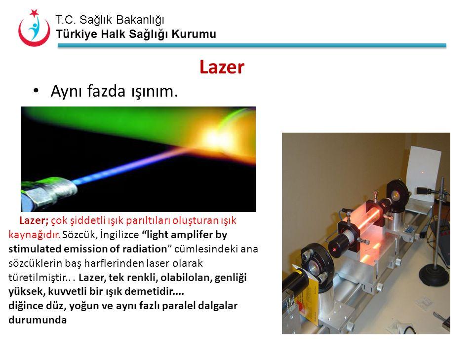 T.C. Sağlık Bakanlığı Türkiye Halk Sağlığı Kurumu Lazer Aynı fazda ışınım.