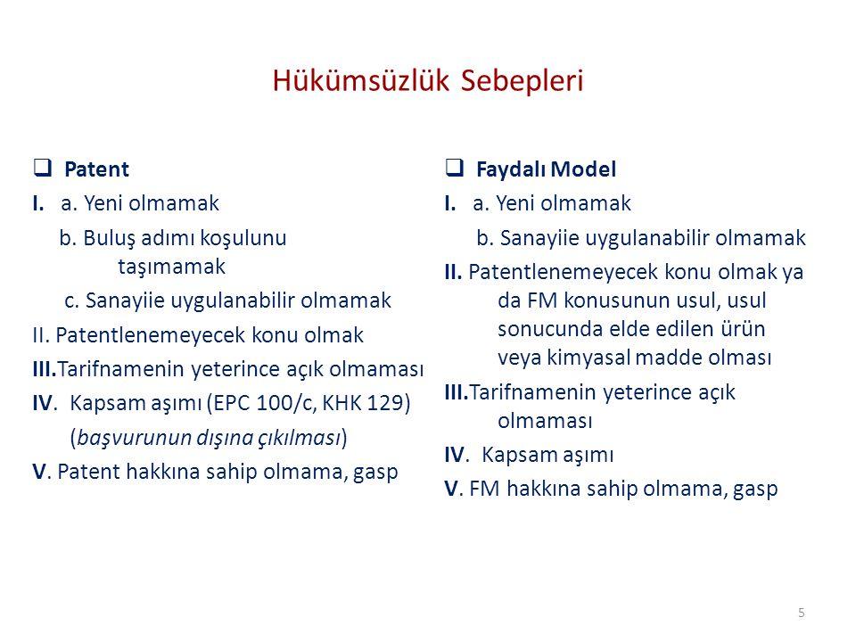 Hükümsüzlük Kararının Etkisi Patent KHK md.