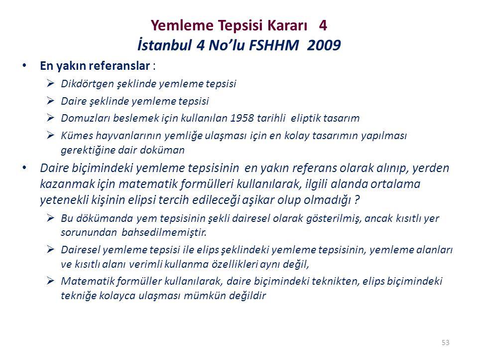 Yemleme Tepsisi Kararı 4 İstanbul 4 No'lu FSHHM 2009 En yakın referanslar :  Dikdörtgen şeklinde yemleme tepsisi  Daire şeklinde yemleme tepsisi  D