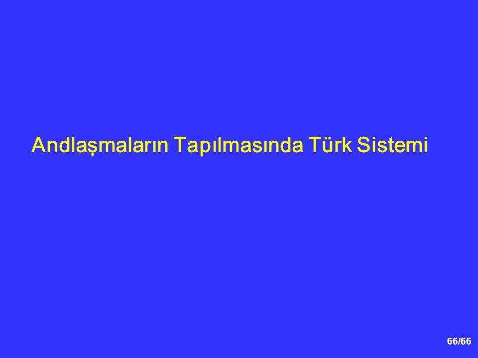 66/66 Andlaşmaların Tapılmasında Türk Sistemi