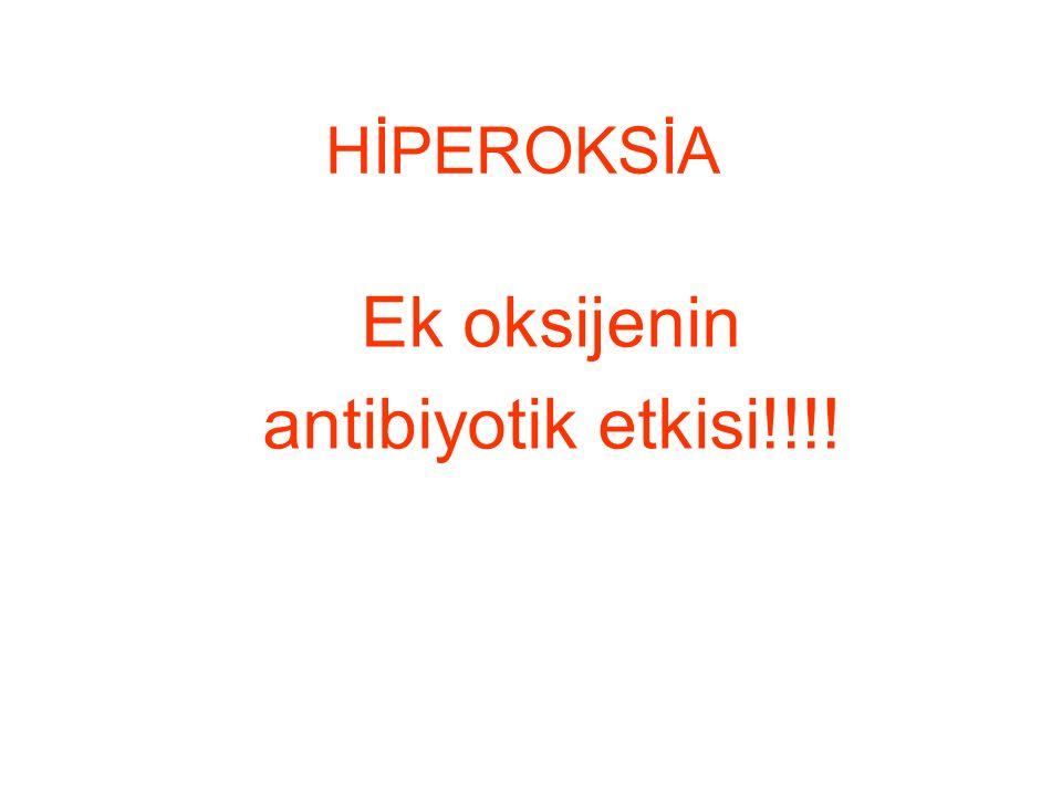 HİPEROKSİA Ek oksijenin antibiyotik etkisi!!!!