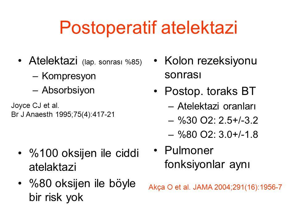 Postoperatif atelektazi Atelektazi (lap.