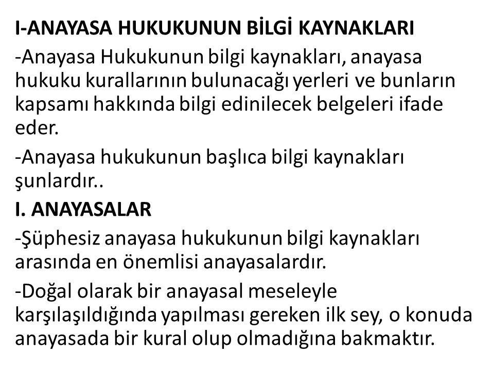 C.ASLİ KURUCU İKTİDARIN ÖZELLİKLERİ 1.