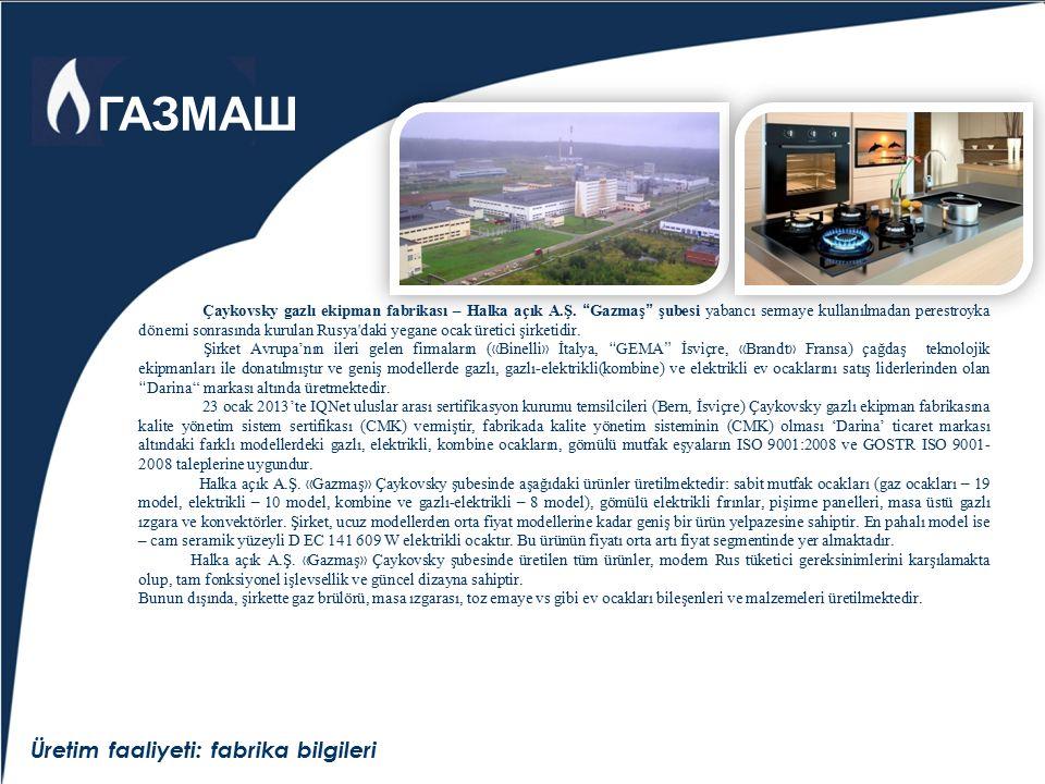 """Üretim faaliyeti: fabrika bilgileri Çaykovsky gazlı ekipman fabrikası – Halka açık A.Ş. """" Gazmaş """" şubesi yabancı sermaye kullanılmadan perestroyka dö"""