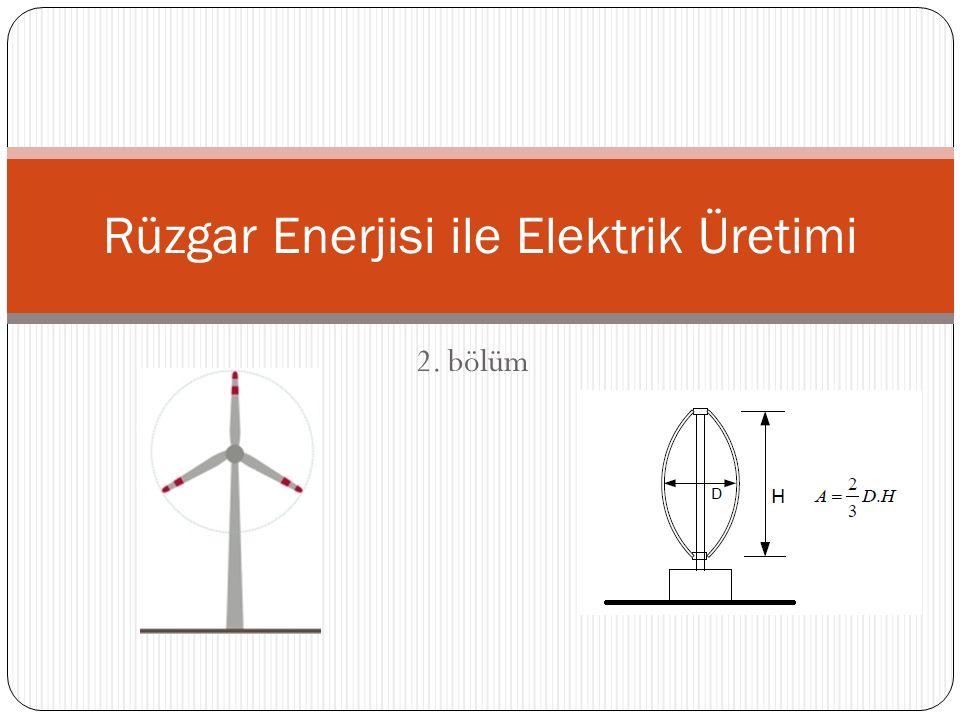 2. bölüm Rüzgar Enerjisi ile Elektrik Üretimi