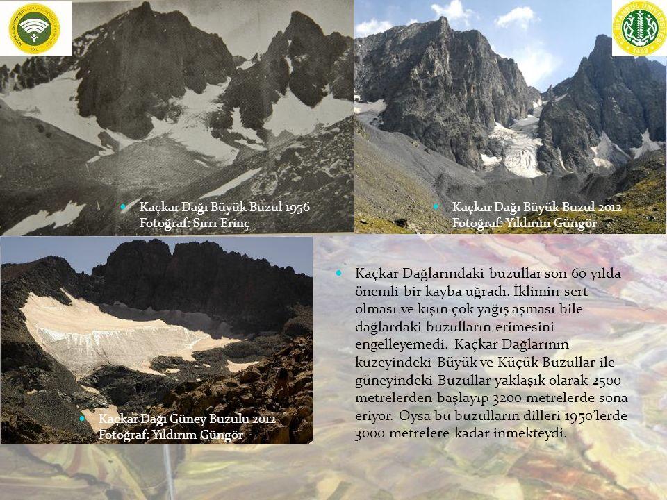 Kaçkar Dağlarındaki buzullar son 60 yılda önemli bir kayba uğradı.
