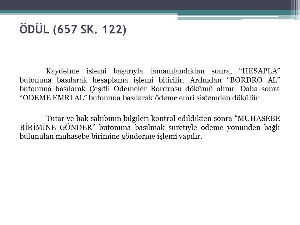 ÖDÜL (657 SK.
