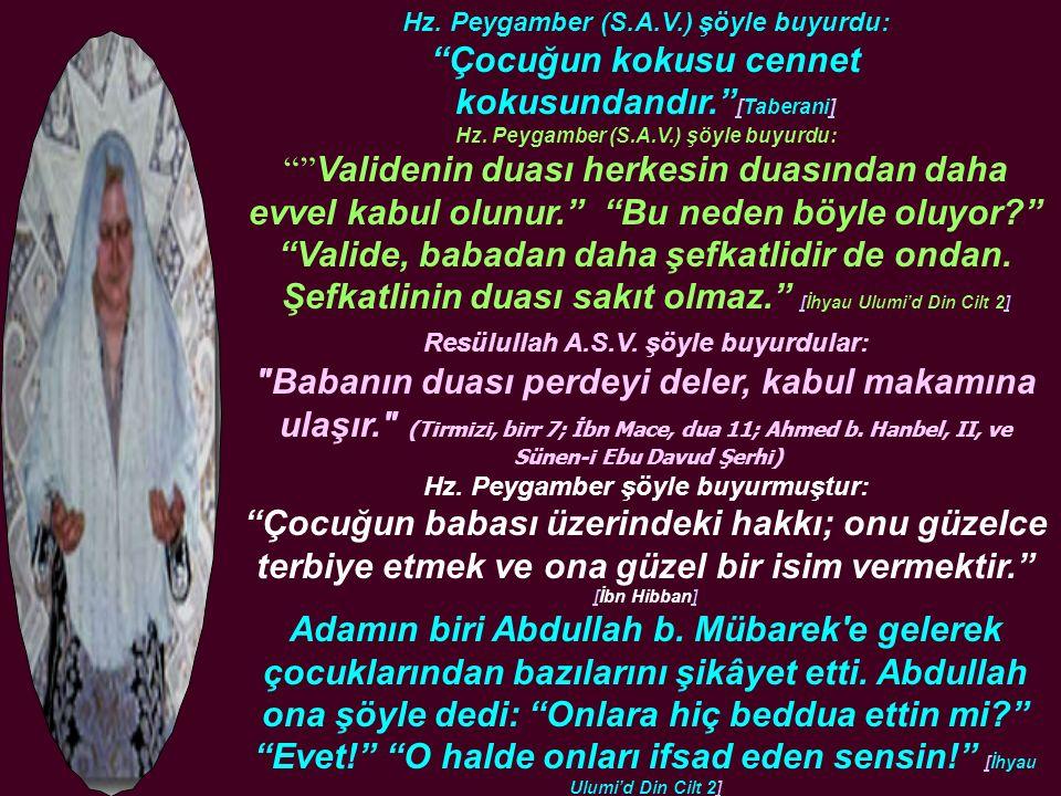 Allah-ü Teâlâ kendisine böyle bir oğul ihsân ettiği için şükretti: Ve ellerini semaya kaldırarak..