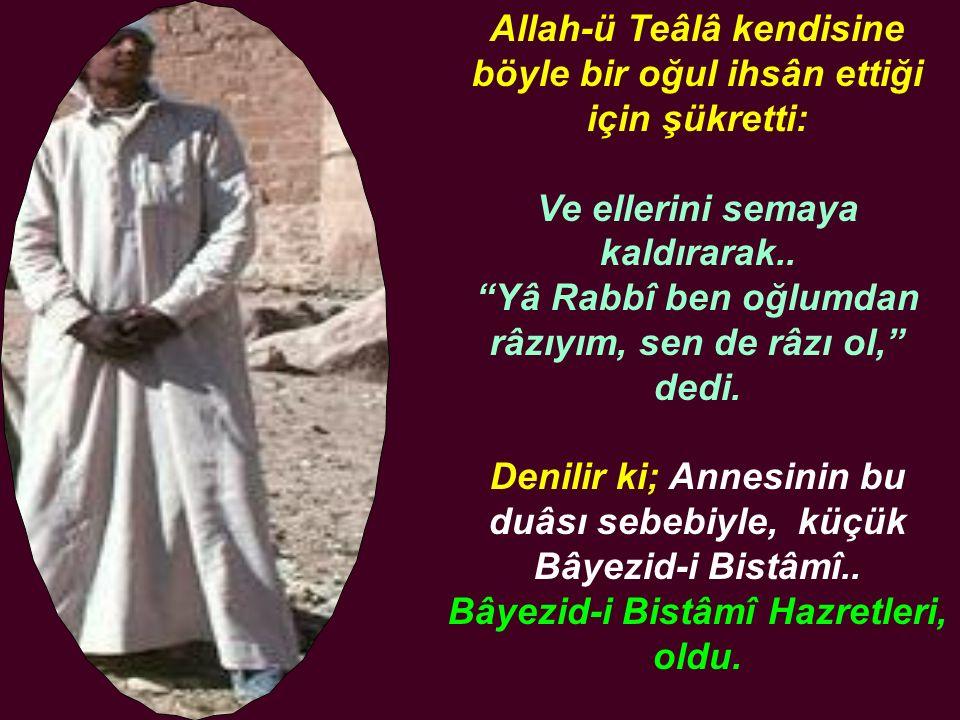 """Allah-ü Teâlâ kendisine böyle bir oğul ihsân ettiği için şükretti: Ve ellerini semaya kaldırarak.. """"Yâ Rabbî ben oğlumdan râzıyım, sen de râzı ol,"""" de"""