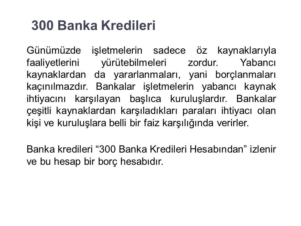 37 Kısa vadeli yabancı kaynaklarla ilgili hesaplar şunlardır: 300 Banka Kredileri 320 Satıcılar Hesabı 321 Borç Senetleri Hesabı 326 Alınan Depozito ve Teminatlar Hesabı 331 Ortaklara Borçlar Hesabı 335 Personele Borçlar Hesabı 336 Diğer Çeşitli Borçlar Hesabı