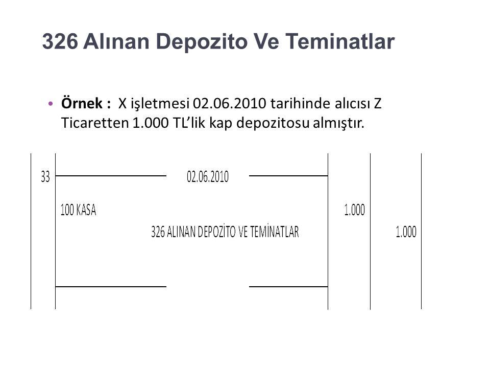 321 Borç Senetleri Örnek: X işletmesi 01.06.2010 tarihinde vadesi gelen 25.000 TL nominal değerli senedin karşılığını ilgili bankaya ödemiş ve senedini geri almıştır.
