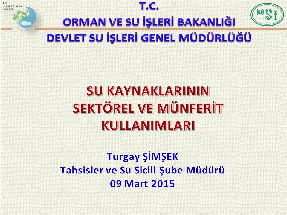 Suyun Mülkiyeti İle İlgili Ülkemizdeki Yasal Durum 6200 Sayılı Kanun ve 662 SAYILI Kanun Hükmünde Kararnamede Tahsis İle İlgili Hükümler ve Bu Hükümler Çerçevesinde Türkiye'de Mevcut Uygulama Su Tahsisi/Kullanım Taleplerinde Mevcut İşleyiş Tahsis ve Su Kiralama Talepleri Su Tahsislerin/Kullanımların CBS Ortamında İşlenmesi Su Tahsislerinde Rasatların Önemi Su Kullanım Taleplerinde Dikkate Alınan Hususlar 2013 Yılında Gerçekleştirilen Faaliyetlerimiz Tahsisler ve Su Sicili Çalıştay Sonuçları Hedeflerimiz Mevzuat Karşılaştırması Netice ve Öneriler