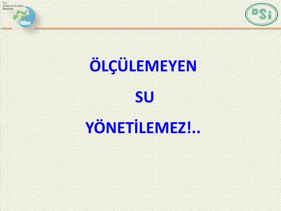 ÖLÇÜLEMEYEN SU YÖNETİLEMEZ!..