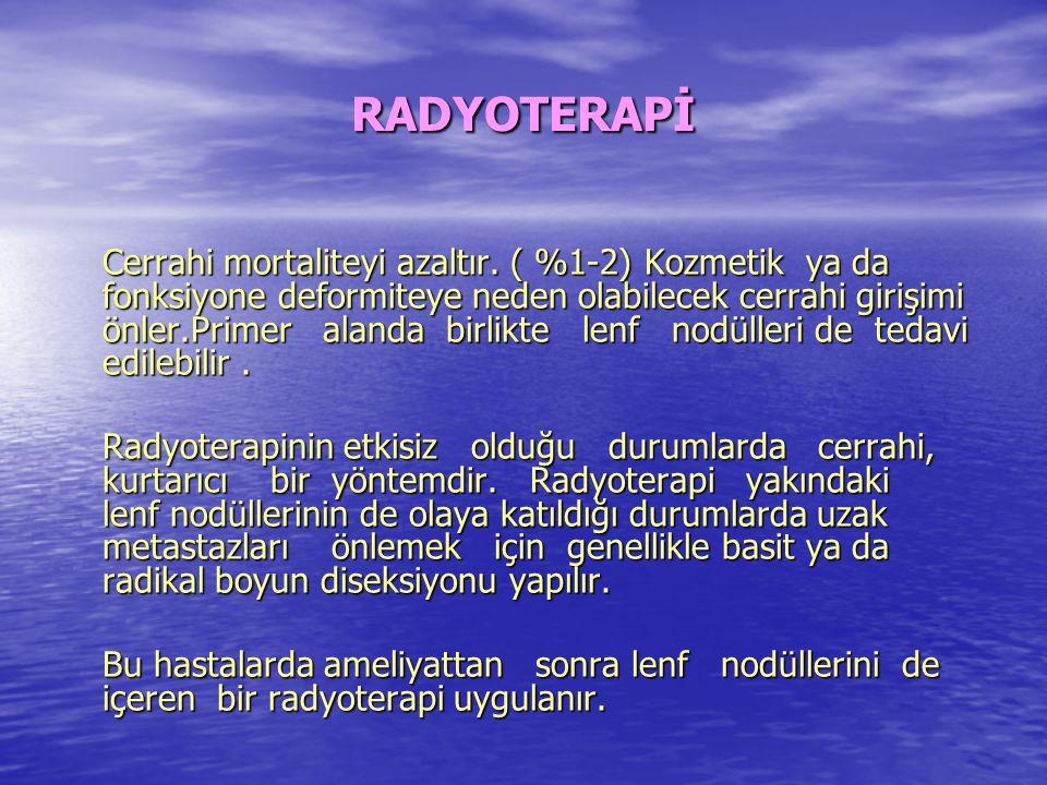 Radyasyon, erken dönemdeki lezyonları için primer tedavi olarak kullanılabilir.