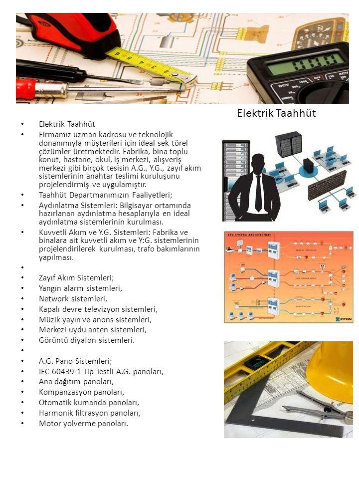 Elektrik Taahhüt Firmamız uzman kadrosu ve teknolojik donanımıyla müşterileri için ideal sek törel çözümler üretmektedir.