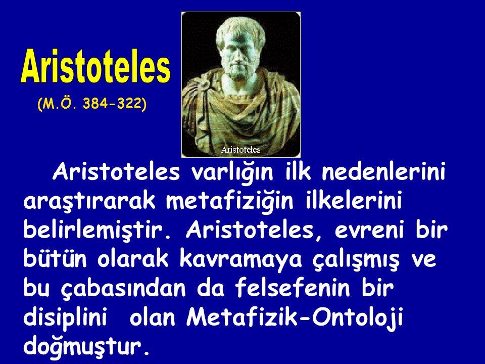 """Metafizik sözcüğünü ilk kullanan Aristoteles'tir. Yazmış olduğu kitabının ilk bölümüne """"Fizik"""", ikinci bölümüne """"Metafizik"""" adını vermiştir. Buradaki"""