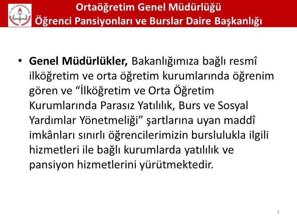 Ortaöğretim Genel Müdürlüğü Öğrenci Pansiyonları ve Burslar Daire Başkanlığı 73 Doğa Yürüyüşleri