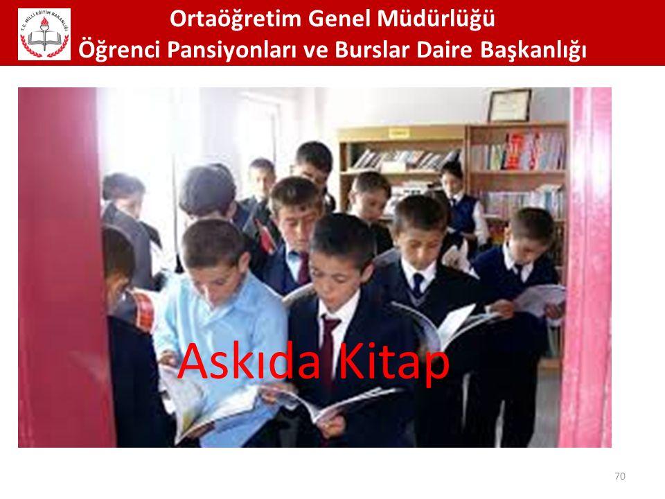 Ortaöğretim Genel Müdürlüğü Öğrenci Pansiyonları ve Burslar Daire Başkanlığı 70 Askıda Kitap