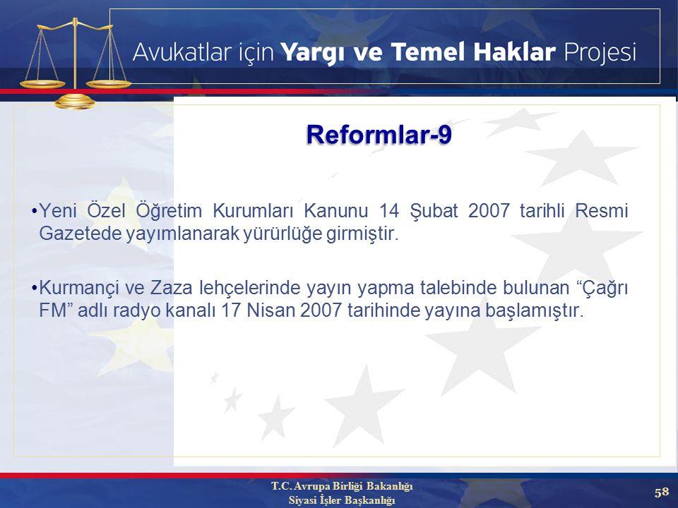 58 Yeni Özel Öğretim Kurumları Kanunu 14 Şubat 2007 tarihli Resmi Gazetede yayımlanarak yürürlüğe girmiştir.