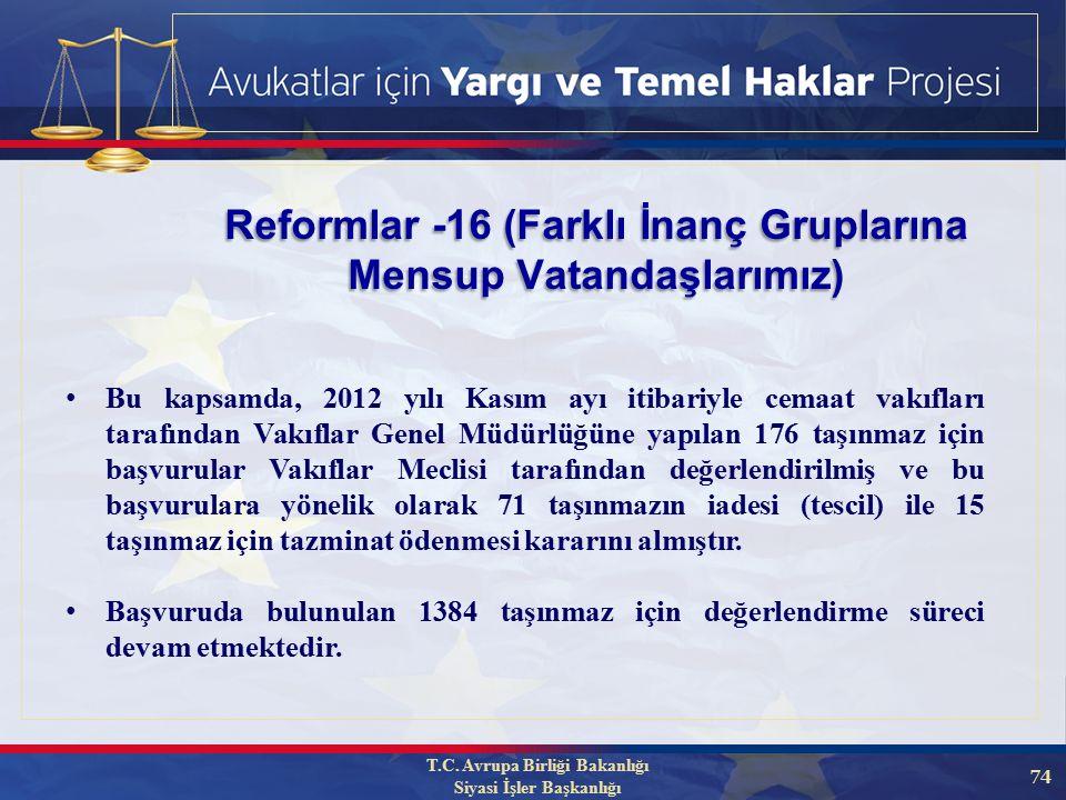 74 Reformlar -16 (Farklı İnanç Gruplarına Mensup Vatandaşlarımız) T.C.