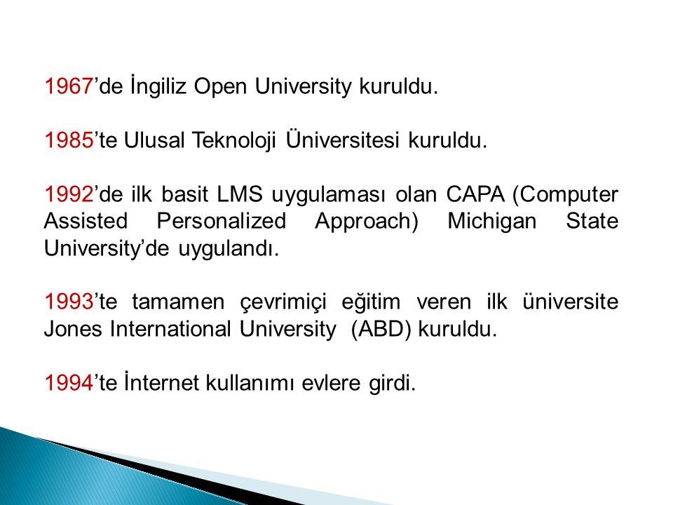 1967'de İngiliz Open University kuruldu. 1985'te Ulusal Teknoloji Üniversitesi kuruldu.