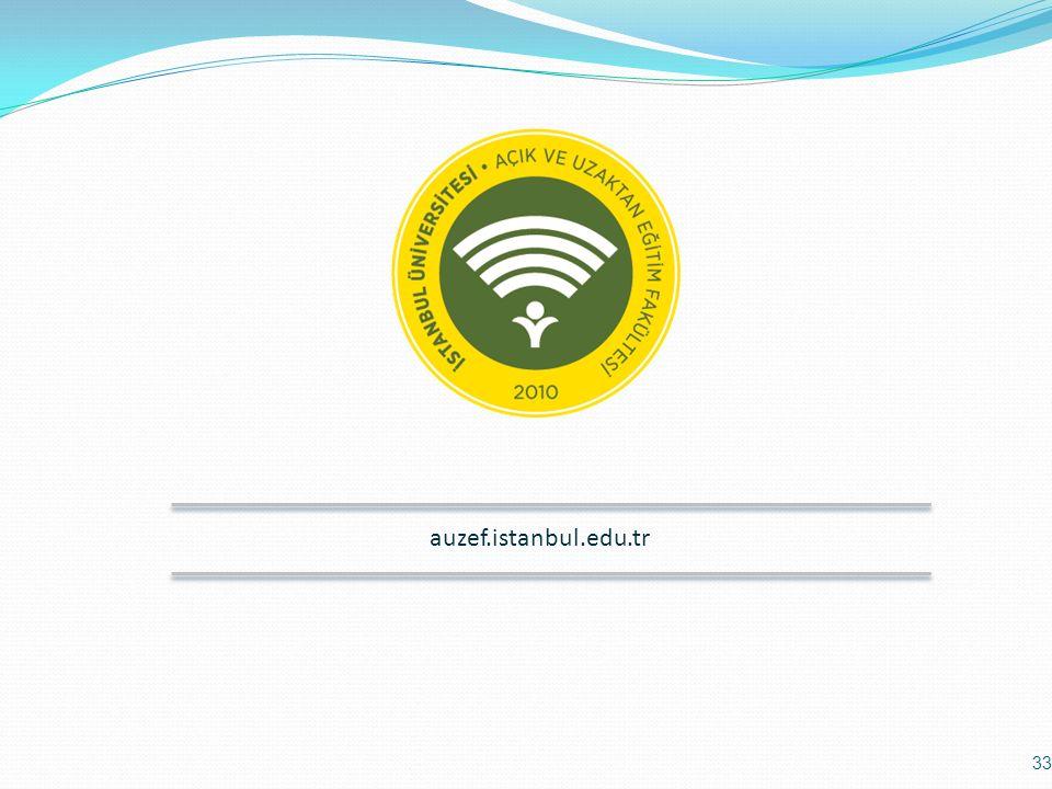 auzef.istanbul.edu.tr 33