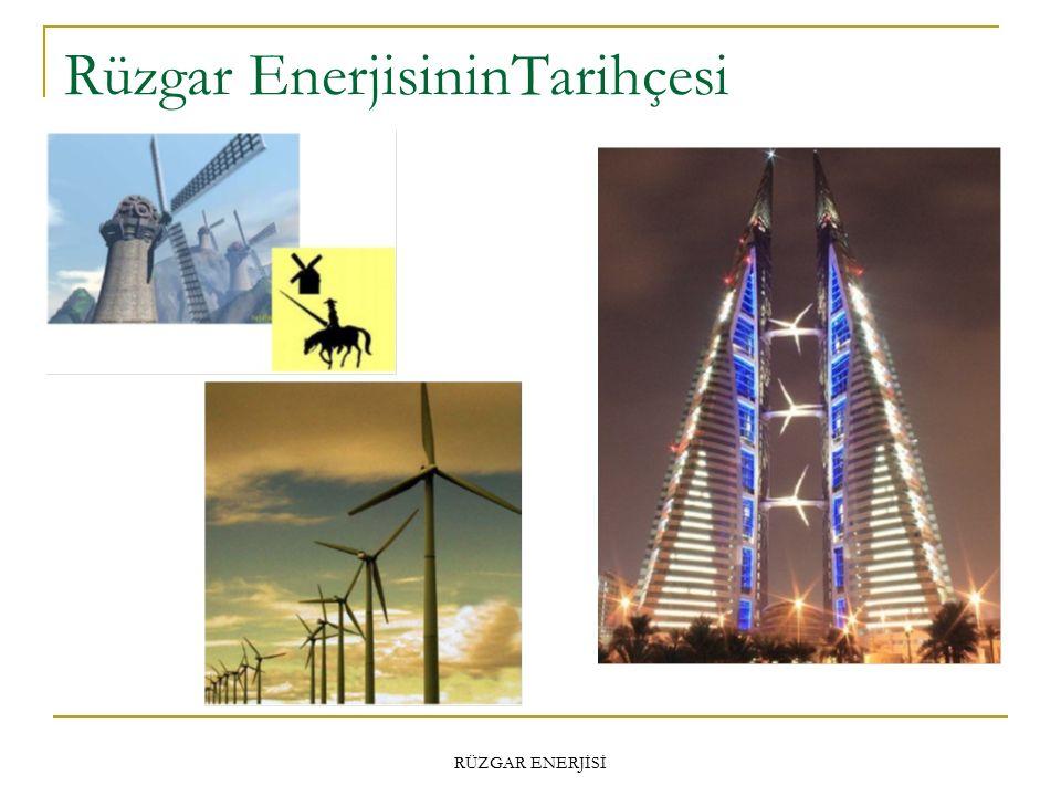 Rüzgar EnerjisininTarihçesi RÜZGAR ENERJİSİ