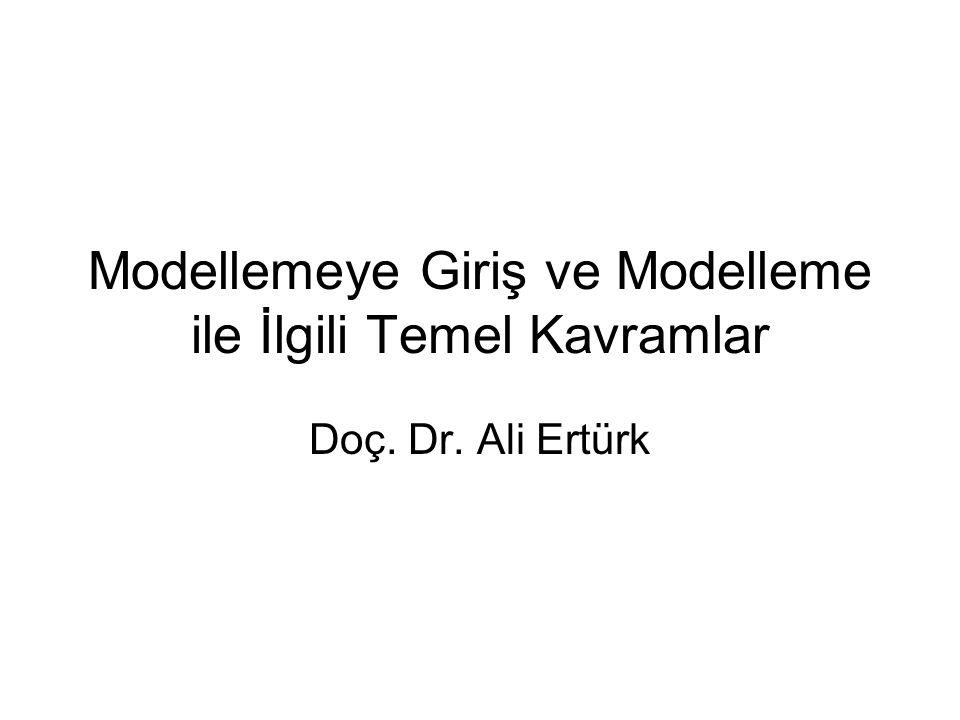 Modellemeye Giriş ve Modelleme ile İlgili Temel Kavramlar Doç. Dr. Ali Ertürk