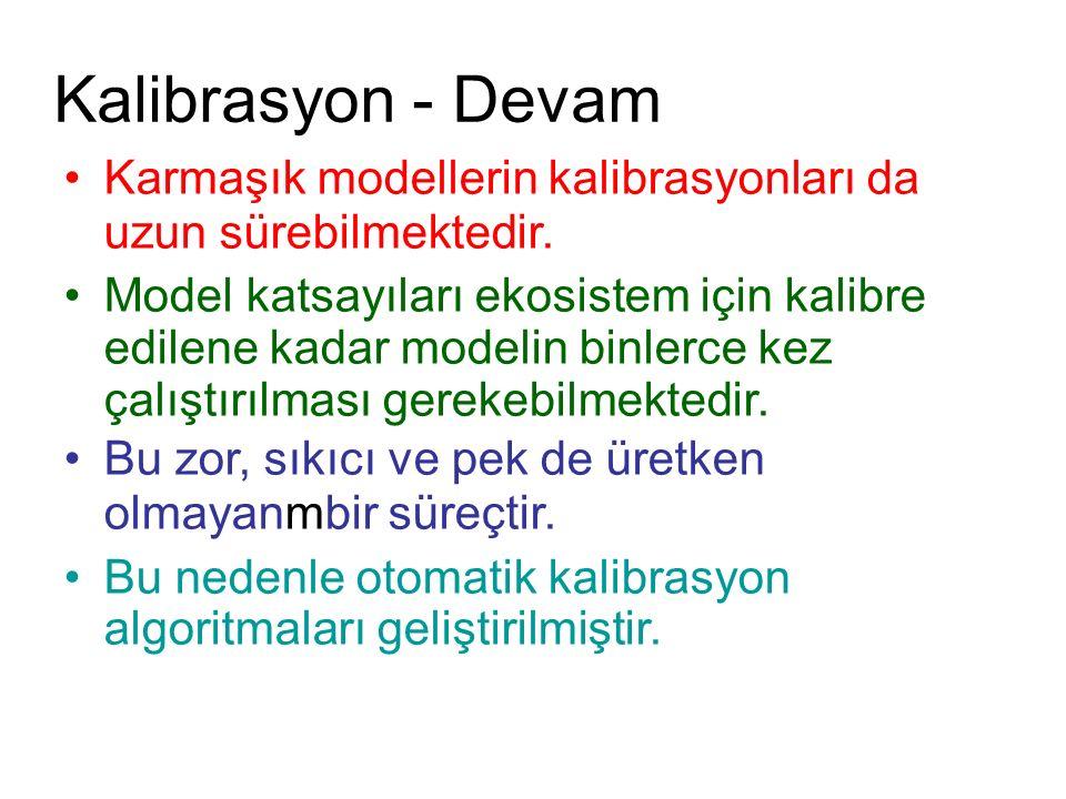 Kalibrasyon - Devam Karmaşık modellerin kalibrasyonları da uzun sürebilmektedir.