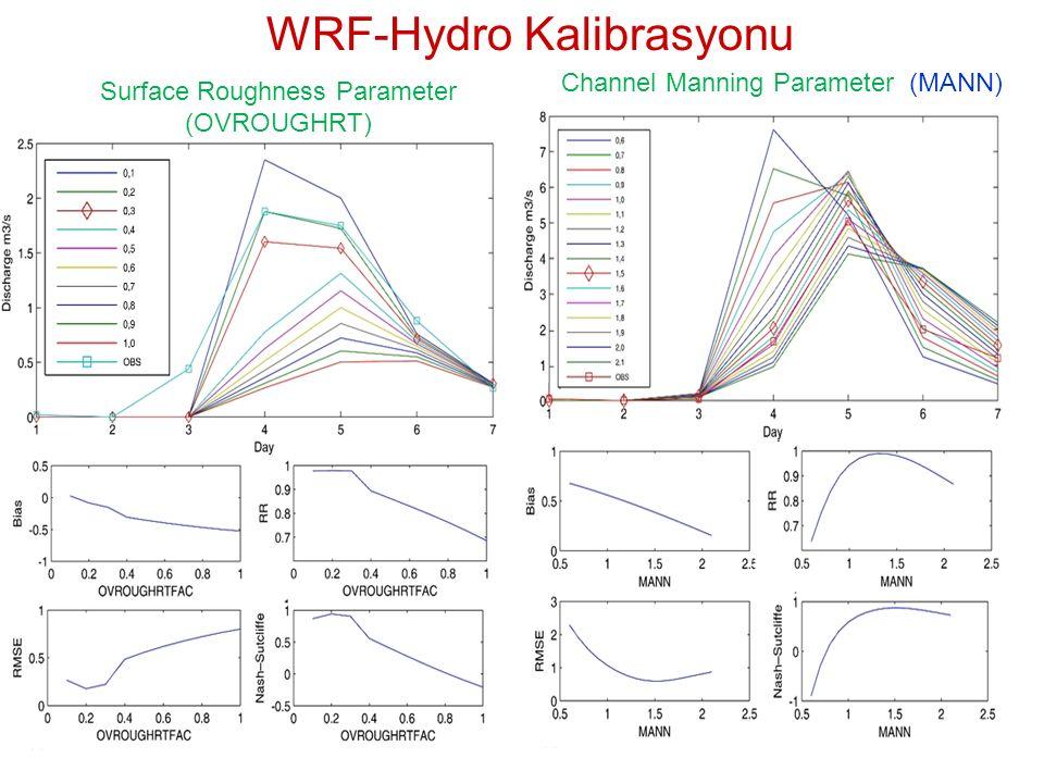 Surface Roughness Parameter (OVROUGHRT) Channel Manning Parameter (MANN) WRF-Hydro Kalibrasyonu