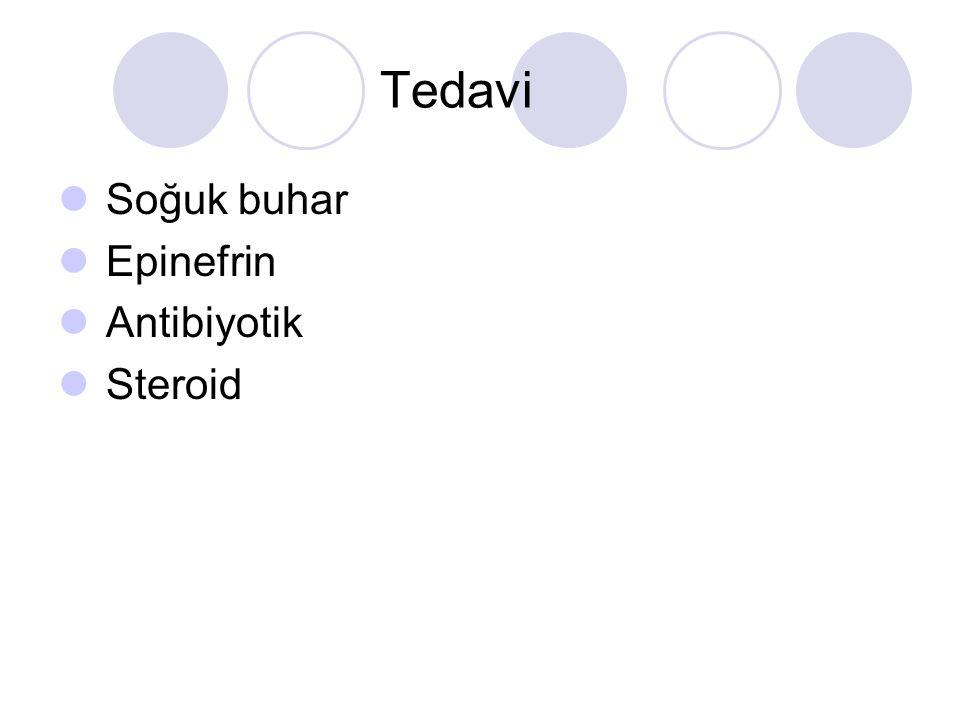Tedavi Soğuk buhar Epinefrin Antibiyotik Steroid